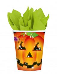 Papkrus 8 stk. græskar Halloween