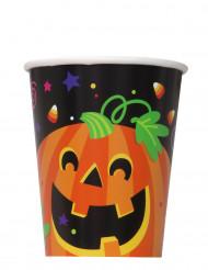 8 papkrus med græskar og vennerne Halloween 25 cl