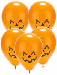 Balloner 5 led græskar Halloween