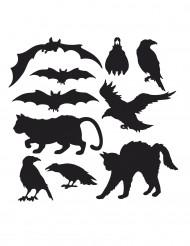 10 dekorationer til Halloween silhuetter
