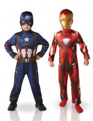 Udklædningsdragtesæt Iron Man™ & Captain America™ barn
