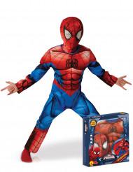 Kostume luksus Ultimate Spider-Man™ til børn æske