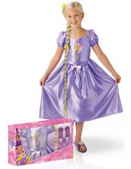 Klassisk kostume Fairy Tale Rapunzel™ med tilbehør i gaveindpakning