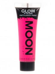 Gel ansigt og krop neon pink selvlysende 12 ml Moonglow