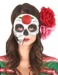 Asymmetrisk maske Dia de los muertos til voksne