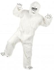 Luksuriøst hvidt Yeti kostume voksen
