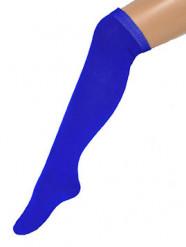 Strømper lange blå 53 cm til voksne