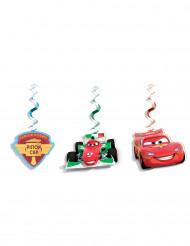 3 Hængende dekorationer Cars Ice™ 70 cm.