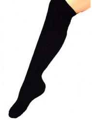 Strømper lange sorte 53 cm til voksne
