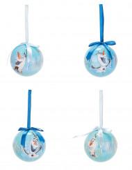 4 Julekugler Olaf fra Frost™ 7,5 cm