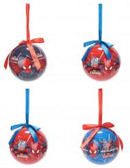 4 Julekugler Spiderman™ 7,5 cm