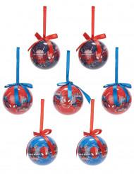 7 Julekugler Spiderman™ 7,5 cm