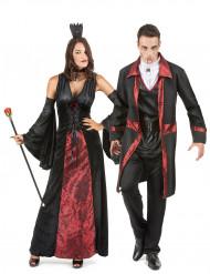 Parkostume vampyrer rød og sort Halloween