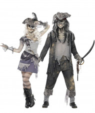 Parkostume spøgelses-pirat Halloween