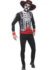 Kostume mexicansk skelet til mænd Dia de los Muertos