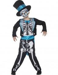 Kostume blåt skelet Dia de los Muertos til børn
