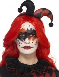 Makeup sæt Harlekin med tatovering og falske øjenvipper voksne