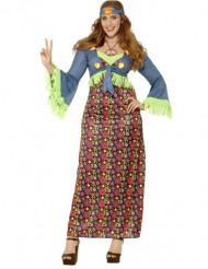 Hippie flowerpower-kostume voksen