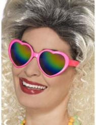 Briller hjerte med flerfarvede glas til voksne