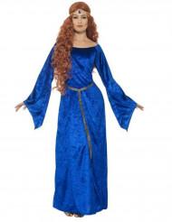 Middelalderkostume blåt dame
