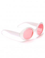 Runde hvide plastikbriller til voksne