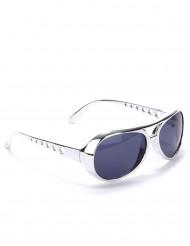 Runde sølvfarvede briller