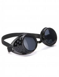 Sorte MC-briller i plast til voksne