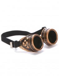 Pilotbriller kobber Steampunk til voksne