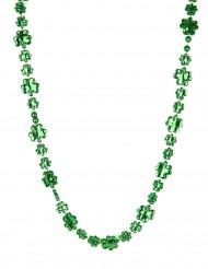 Glitrende grøn firkløverhalskæde Skt. Patricks dag