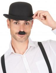 Sort Chaplin-moustache til voksne