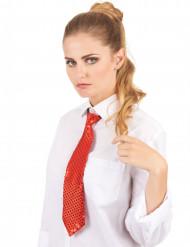 Rød pailletglitrende slips til voksne