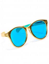 Guldfarvede gigantiske briller til voksne