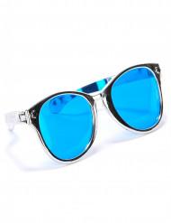 Sølvfarvede gigantiske briller til voksne