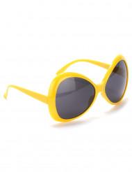 Gule disko-briller til voksne