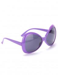 Lilla disko-briller til voksne