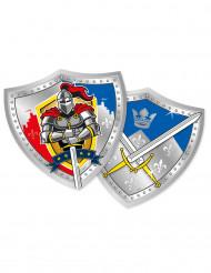 6 Paptallerkener ridder