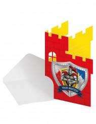 8 Invitationskort ridder