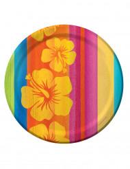 8 Paptallerkener Hawaii - 23 cm