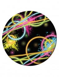 8 tallerkner Glow Party 18 Cm