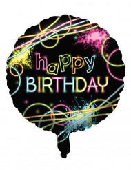 Ballon aluminium Happy Birthday neon party 45 cm