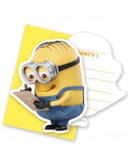 6 Invitationskort med kuvert Lovely Minions™