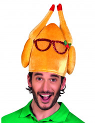 Hat kalkun med briller humor til voksne jul