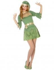 Kostume grøn nisse jul til kvinder