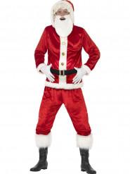 Kostume Julemand med stor mave og lyd til voksne