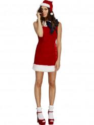 Kostume rød kjole med sort sløjfe jul sexet til kvinder
