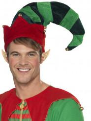 Alfehat med bjælder til jul