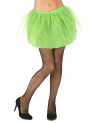 Grønt tylskørt med underskørt til kvinder
