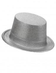 Høj Sølvfarvet hat