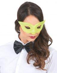 Gul venetiansk øjenmaske med pailletter