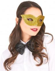 Venetiansk maske med guldpailletter til voksne